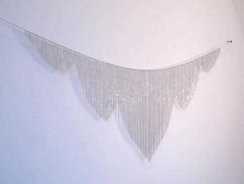 Afruz Amighi, Amazon, 2012, Base metal chain, 18 x 71 in., Courtesy the Artist