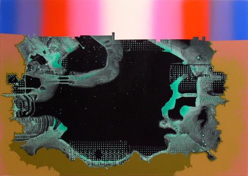Phil Argent, <em>Untitled (Go Between)</em>, 2013, Acrylic on canvas, 28 x 40 in., Courtesy the Artist