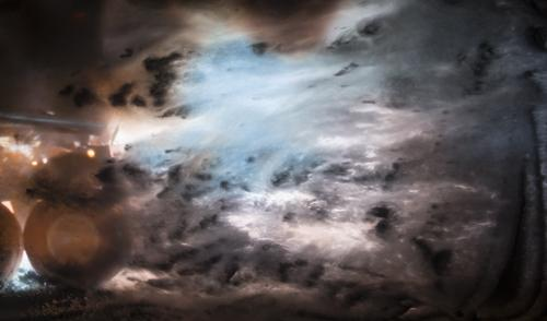 Stephanie Washburn, <em>Fire at Sea 2</em>, 2015, Digital C-print, 32 x 55 in., Courtesy the Artist