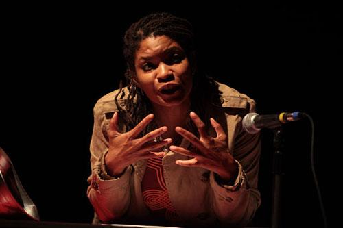 Kendra Ware, <em>Notes from the Underground</em>, 2013, Studio performance at REDCAT, Los Angeles, CA, Courtesy the CalArts staff photographer.