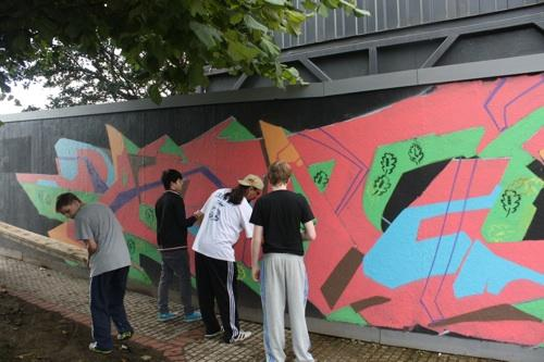 Man One, Natural Beauty mural in Derry, Northern Ireland, 2010, Commissioned by The Playhouse and ICAN, Assisted by local youth, Courtesy the Artist.