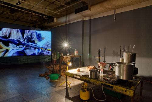 Nicholas Mangan, <em>Progress in Action</em>, 2013, Installation view, Images courtesy of the artist and LABOR