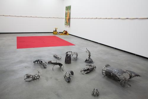 Khvay Samnang, <em>Footprints of Yantra Man</em>, 2015, Installation view, Kunstlerhaus Bethanien, Germany, Courtesy the artist and SA SA BASSAC.