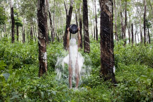 Khvay Samnang, <em>Rubber Man</em>, 2014, Digital C-Print, 47.24 x 70.87 Inches, Courtesy the artist and SA SA BASSAC, Phnom PenhKhvay Samnang, Rubber Man, 2014, Digital C-Print, 47.24 x 70.87 Inches, Courtesy the artist and SA SA BASSAC, Phnom Penh
