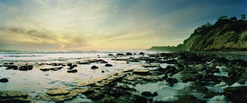 Macduff Everton, <em>Santa Barbara, California: Sunset Over Foam and Rocks Exposed by Winter Storm</em>, 2010, Epson Archival Print