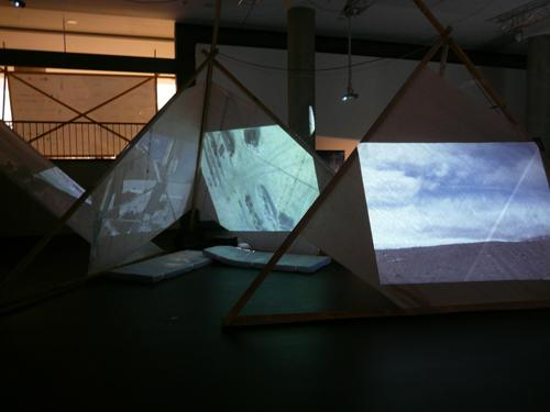 Andrea Polli, <em>Sonic Antarctica</em>, 2009, Installation in Deep North, Transmediale 09, The House of World Cultures, Berlin Germany, Courtesy the Artist