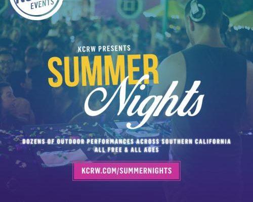 Summer Nights with KCRW flyer