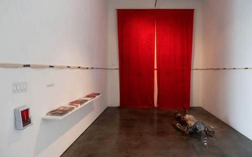 Khvay Samnang, <em>Footprints of Yantra Man</em>, 2016, Installation view, Courtesy the artist and SA SA BASSAC. Photo courtesy Wayne McCall.