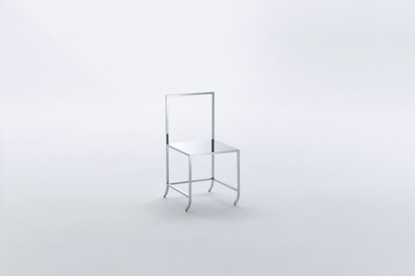 nendo, <em>Manga Chair (22)</em>, 2015, Stainless steel, 32 x 17.25 x 18.25 in. (HWD), Courtesy the Artist and Friedman Benda