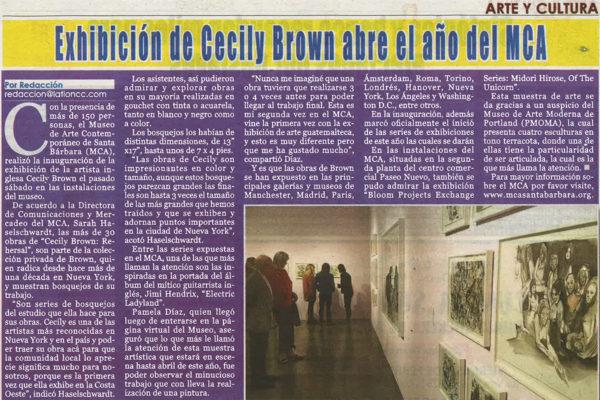 El Latino Header Image Cecily Brown Exhibition