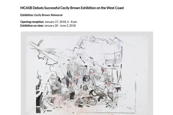 Cecily Brown Press Release Header Image
