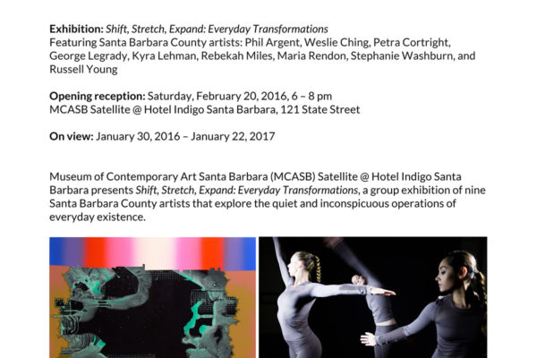 Shift, Stretch, Expand: Everyday Transformations Press Release Header Image
