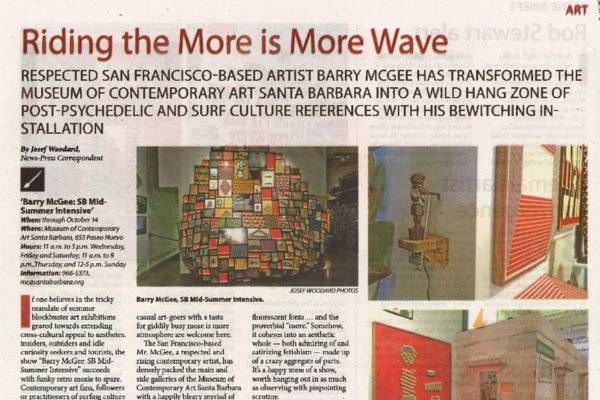 Santa Barbara News Press Barry McGee Header Image