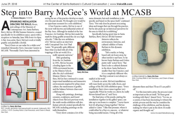 Voice Santa Barbara Header Image Barry McGee