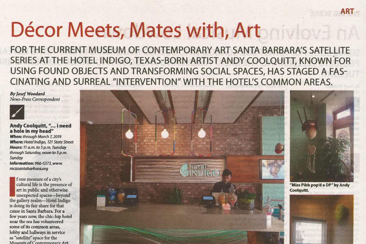 Santa Barbara News Press Décor Meets Mates With Art Museum Of Contemporary