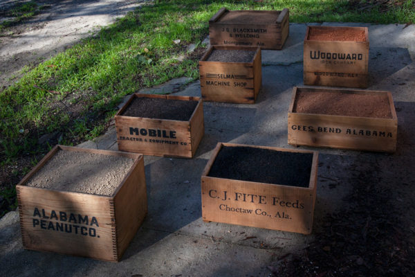 James Benning, Wooden Boxes, Mixed media, Dimensions variable, Courtesy the Artist