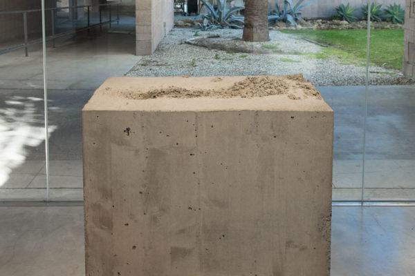 Lara Favaretto, <em>Fisting</em>, 2012, Concrete, iron, 39 1/8 x 17 1/4 x 29 1/4 in (99.4 x 43.8 x 74 cm)
