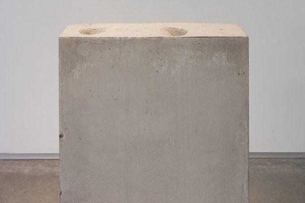 Lara Favaretto, <em>Boring</em>, 2010, Concrete, iron, 43 1/4 x 31 1/2 x 9 7/8 in (109.8 x 80 x 25 cm)