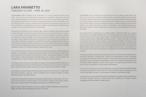 Lara Favaretto Intro Panel