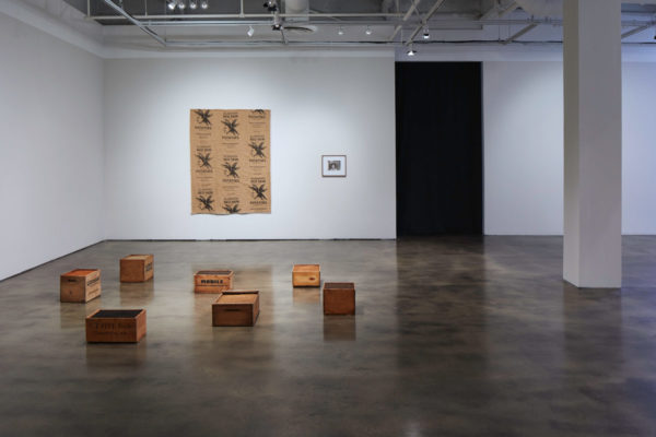 James Benning, Quilts, Cigarettes & Dirt (Portraits of America), Installation view, Photo Courtesy Alex Blair © 2019