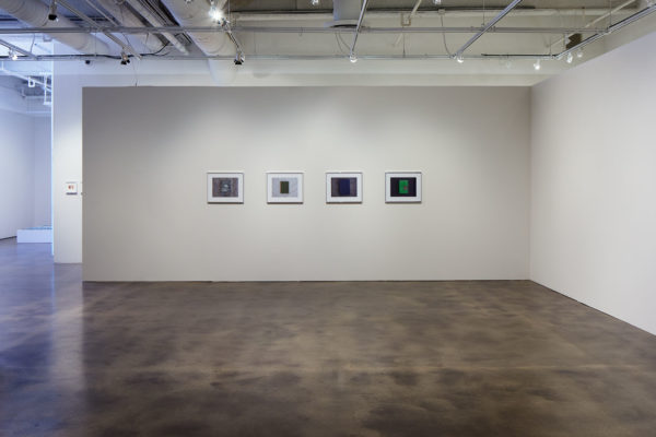 James Benning, <em>Quilts, Cigarettes & Dirt (Portraits of America)</em>, Installation view, Photo Courtesy Alex Blair © 2019