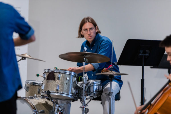 Booker Stardrum (drums), Kunsthalle for Music, Museum of Contemporary Art Santa Barbara, 2019, Courtesy MCASB, Photo: Alex Blair.