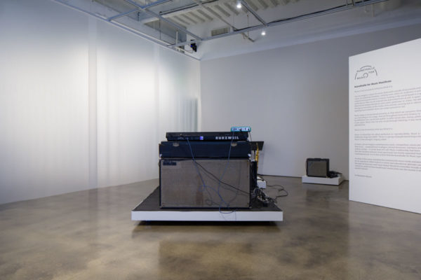 Installation View, Kunsthalle for Music, Museum of Contemporary Art Santa Barbara, 2019, Courtesy MCASB, Photo: Alex Blair.