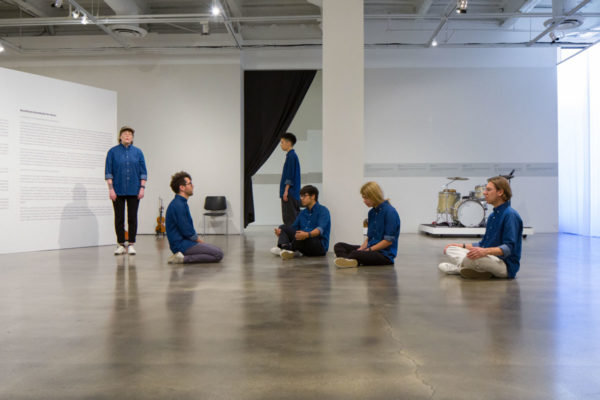 Ari Benjamin Meyers, <em>Serious Immobilities</em> (workshop version), 2013/2016, Kunsthalle for Music, Museum of Contemporary Art Santa Barbara, 2019, Courtesy MCASB, Photo: Alex Blair.