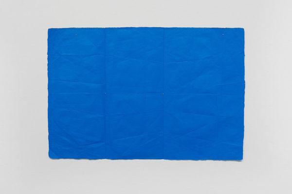 N. Dash, <em>Commuter (1)</em>, 2018, Oil, paper, 19.5 x 29.5 in (49.53 x 74.93 cm), Courtesy the Artist and Museum of Contemporary Art Santa Barbara, Photo: Alex Blair.