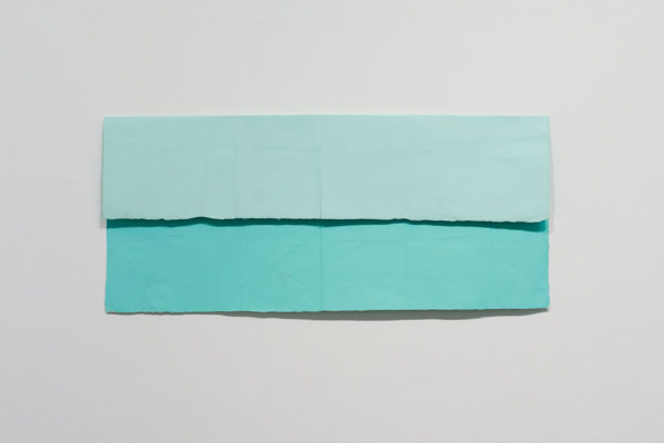 N. Dash, <em>Commuter (2)</em>, 2019, Acrylic, paper, 13.5 x 30 in (34.29 x 76.2 cm), Courtesy the Artist and Museum of Contemporary Art Santa Barbara, Photo: Alex Blair.