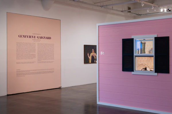 Bloom Projects: Genevieve Gaignard, <em>Outside Looking In</em>, Installation View, Museum of Contemporary Art Santa Barbara, 2020, Photo: Alex Blair.