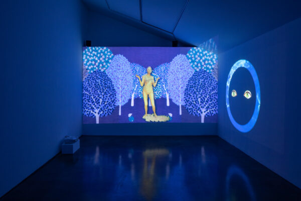 Shana Moulton: <em>The Invisible Seventh is the Mystic Column</em>, Installation View, Museum of Contemporary Art Santa Barbara, 2021, Courtesy the Artist and MCASB, Photo: Alex Blair.