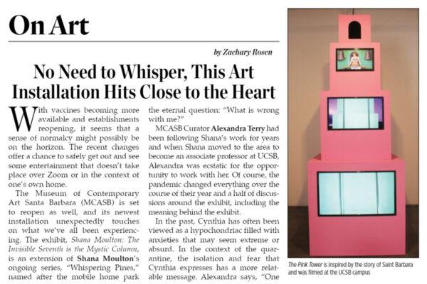 Montecito Journal on Shana Moulton - header